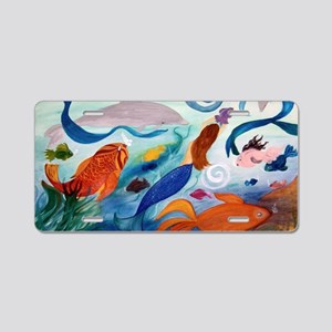 Mermaid  Tropical Fish Part Aluminum License Plate