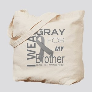 I wear gray for my brother Diabetes Aware Tote Bag
