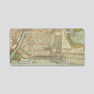 Vintage Map of Niagara Fall Aluminum License Plate