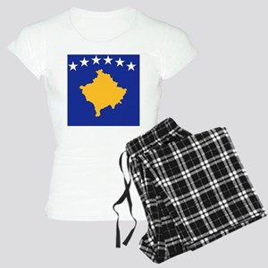 Kosovo flag Women's Light Pajamas