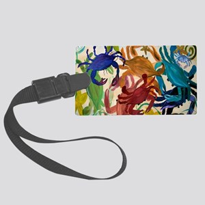 Crab Party Large Luggage Tag
