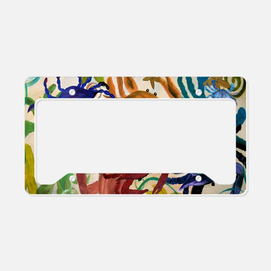 Crab Party License Plate Holder