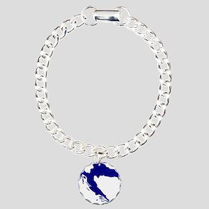 Croatia map Charm Bracelet, One Charm