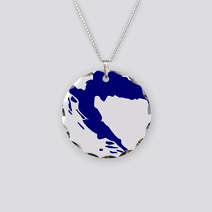 Croatia map Necklace Circle Charm