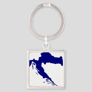 Croatia map Square Keychain