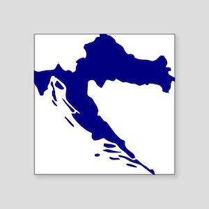 """Croatia map Square Sticker 3"""" x 3"""""""