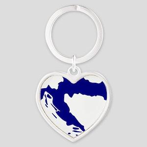 Croatia map Heart Keychain