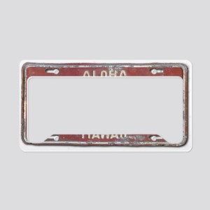 Hawaiian Aloha LIcense Plate License Plate Holder