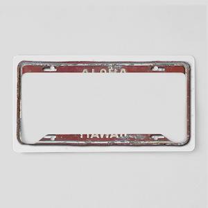 Hawaiian Aloha LIcense Plate License Plate Holder