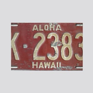 Hawaiian Aloha LIcense Plate Rectangle Magnet