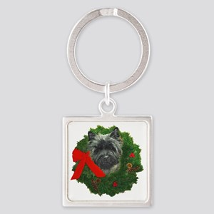 Cairn at Christmas Square Keychain