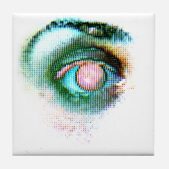 Human eye Tile Coaster