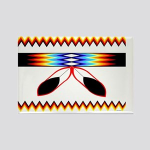 NATIVE AMERICAN BEADED STRIP Rectangle Magnet