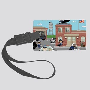 POLICE DEPARTMENT SCENE Large Luggage Tag