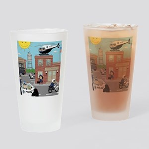 POLICE DEPARTMENT SCENE Drinking Glass
