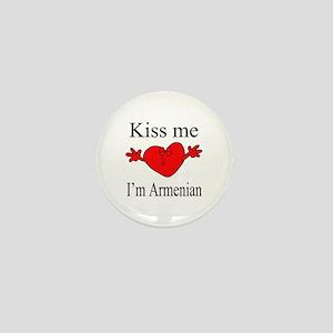Kiss Me I'm Armenian Mini Button
