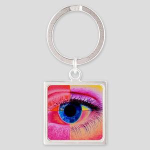 Human eye Square Keychain
