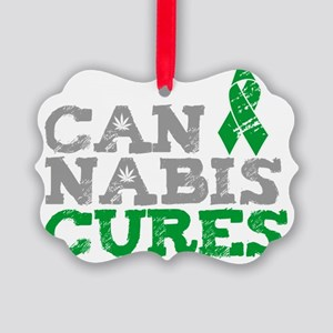 Cannabis Cures Picture Ornament