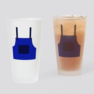 Overalls  front Drinking Glass