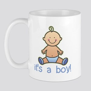 New Baby Boy Cartoon Mug