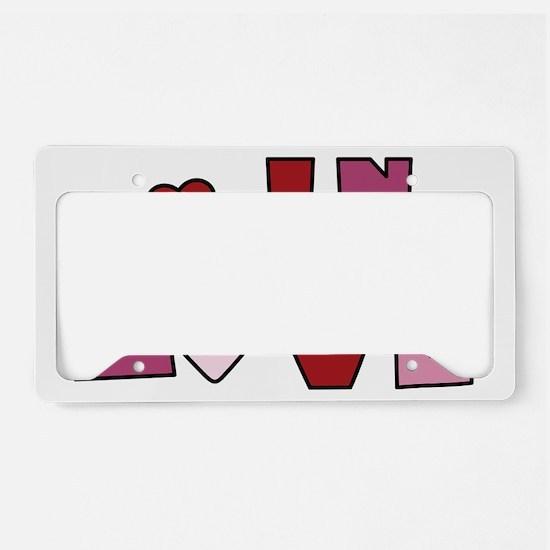 In Love License Plate Holder