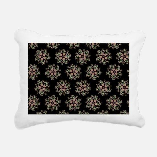 CMYK Black Fractal Art S Rectangular Canvas Pillow