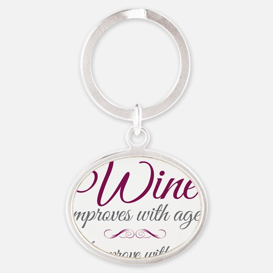 Wine improves Oval Keychain