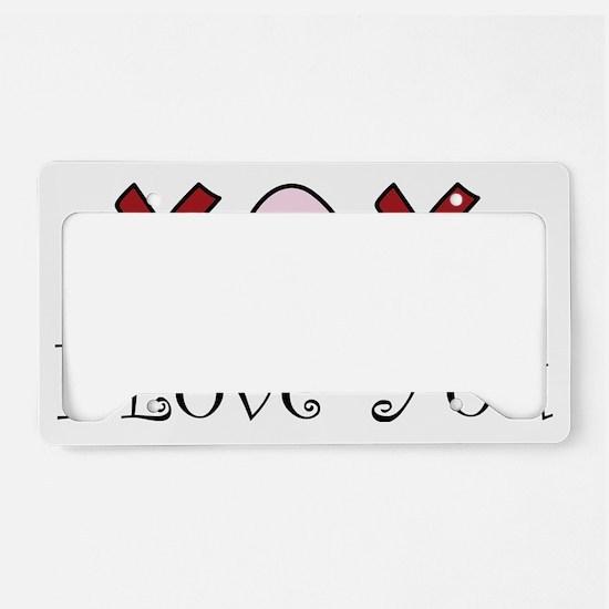 I Love You License Plate Holder