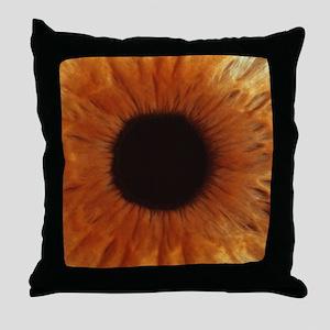 Human iris Throw Pillow