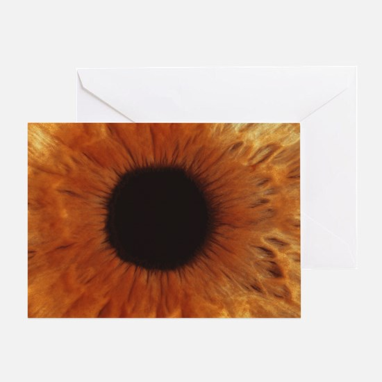 Human iris Greeting Card