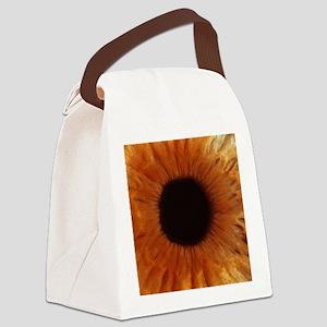 Human iris Canvas Lunch Bag