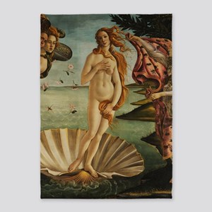 Botticelli Birth Of Venus 5'x7'Area Rug