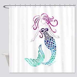 Tribal Mystic Mermaid Shower Curtain