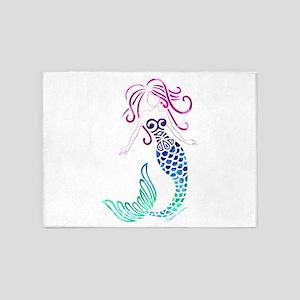 Tribal Mystic Mermaid 5'x7'Area Rug