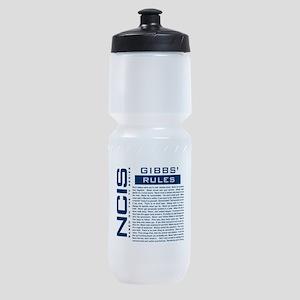 NCIS Gibbs Rules Sports Bottle