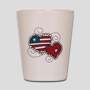 America Hearts Shot Glass