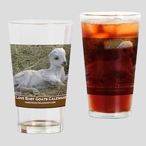 I Love Baby Goats Calendar Drinking Glass