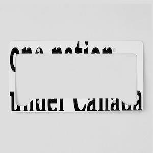 undercanadarectangle License Plate Holder