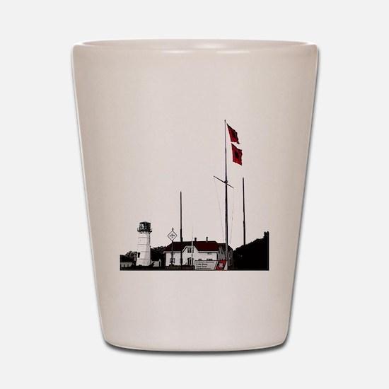 Hurricane Flags, Chatham Light Shot Glass
