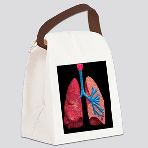 Human lungs Canvas Lunch Bag