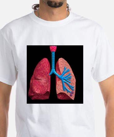 Human lungs White T-Shirt