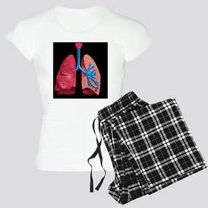 Human lungs Women's Light Pajamas