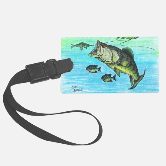 The Big Bass and Bluegill Fishin Luggage Tag