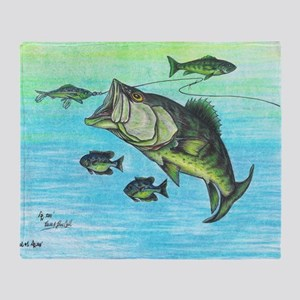 The Big Bass and Bluegill Fishing Or Throw Blanket