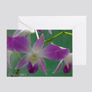 I Love Orchids Wall Calendar Greeting Card