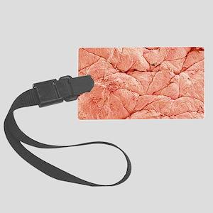 Human skin, SEM Large Luggage Tag