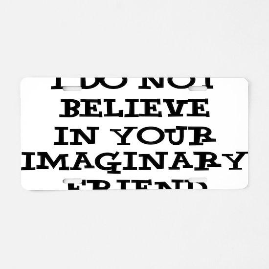 imaginary Aluminum License Plate