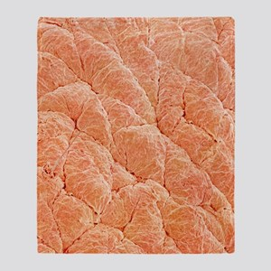 Human skin, SEM Throw Blanket