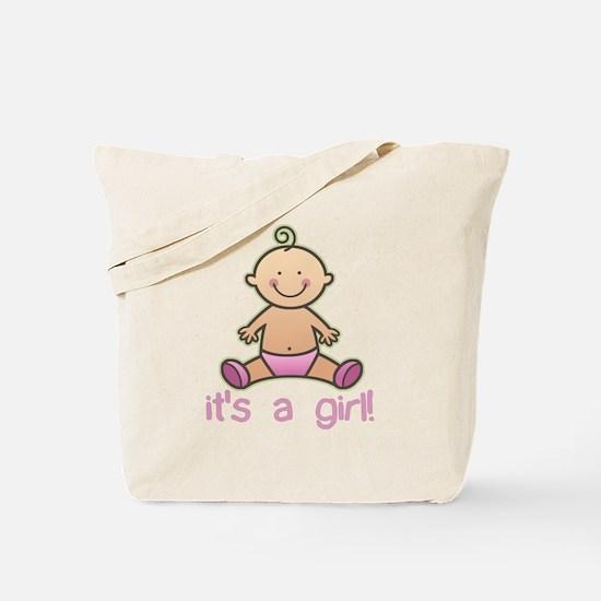 New Baby Girl Cartoon Tote Bag