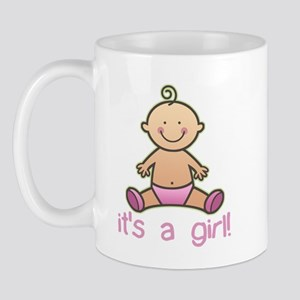 New Baby Girl Cartoon Mug